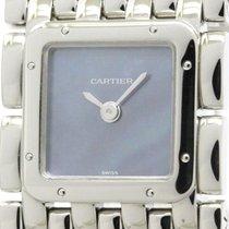 Cartier Ruban Blue Mop Dial Steel Quartz Ladies Watch W61002t9...