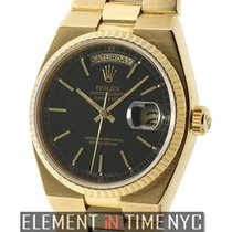 Rolex Day-Date OysterQuartz President 18k Yellow Gold Black...