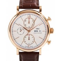 IWC Schaffhausen IW391020 Portofino Chronograph Silver Plated...