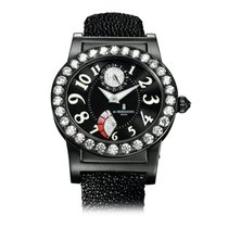 De Grisogono Tondo Rm Stainless Steel All Black & Diamonds
