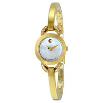 Movado Rondiro White Mother of Pearl Dial Yellow Gold PVD...