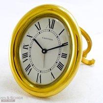 Cartier Baignoire Alarm Table Clock Quartz Gold Plated Brass...
