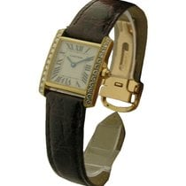 Cartier Small Size Tank Francaise with Diamond Case