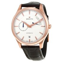 Zenith Captain Power Reserve Silver Dial 18kt Rose Gold...