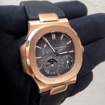 Patek Philippe Nautilus Rose Gold Leather