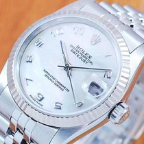 Rolex 18K Pearl DateJust Automatic Midsize Watch