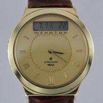 Junghans Mega Gold 14k 585 #K2772 Guter Zustand Box, Papiere
