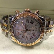 Breitling Chronomat Evolution Pilot Rose Gold Steel Roman Dial...