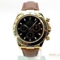 Rolex Cosmograph Daytona Gelbgold / Leder 116518