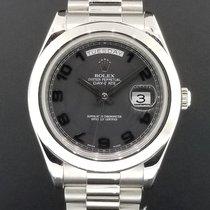 Rolex Day-Date II President 41mm Platinum Ref. 218206 Excellen...