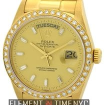Rolex Day-Date President 18k YG Diamond Bezel And Dial Ref. 18048