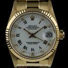 Rolex 18k Y/G O/P White Roman/Diamond Dial Mid-Size Datejust...