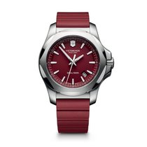 Victorinox Swiss Army I.N.O.X. red dial, red rubber bracelet,...