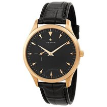 Zenith Heritage Ultra Thin Black Dial 18kt Rose Gold Black...