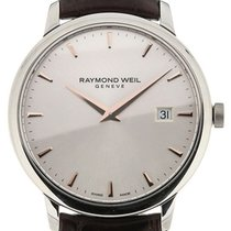Raymond Weil Toccata 39 Quartz Silver Dial Brown Leather