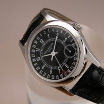 Patek Philippe Calatrava 6000G white gold black dial New