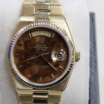 Rolex President Day Date Quartz 19018 18K Yellow Gold Wood