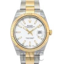 Rolex Datejust 41 White/18k gold 41mm - 126333