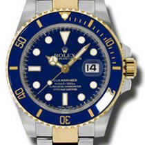 Rolex Watches: 116613 blu Submariner Steel and Gold