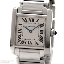 Cartier Tank Francaise Medium Size Ref-CC836388 Stainless...