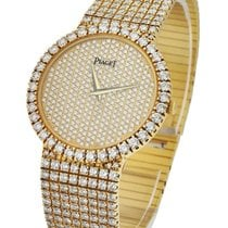 Piaget TradYGpave33 Tradition 33mm Round in Yellow Gold - on...