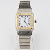 Cartier Medium Santos 18k Yellow Gold and Stainless Steel