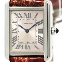 Cartier Polished Cartier Tank Solo Steel Leather Quartz Ladies...