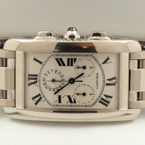 Cartier Tank Americaine Chrono Large White Gold 18 krt (45 x...