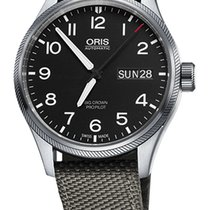 Oris Big Crown ProPilot Day Date, Grey Textile Bracelet