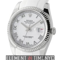 Rolex Datejust 36mm Steel & White Gold White Roman Dial On...