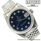 Rolex Datejust 68274 quadrante blue soleil indici diamanti 1992's