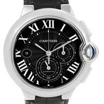 Cartier Ballon Bleu Steel Black Dial Chronograph Mens Watch...