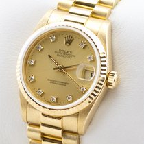 Rolex DATEJUST DIAMANT GOLD 750 AUTOMATIK 31MM MEDIUM MID SIZE