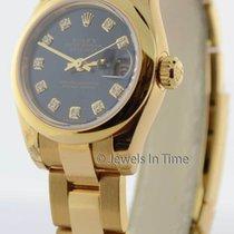 Rolex Ladies Datejust 179168 18K Yellow Gold Watch Diamond...