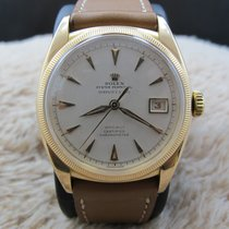 Rolex Oyster Perpetual 6105 18k Pink Gold Pre Datejust Big...