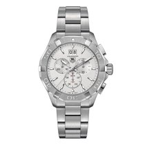 TAG Heuer Aquaracer Chronograph Silver Dial Men's Watch