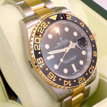 Rolex Gmt-master II 116713 Ln Oyster 18k Y Gold /ss Ceramic...
