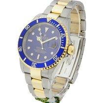 Rolex Used 16613_used_blue Submariner Two-Tone - with Blue...