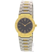 Bulgari Ladies  Diagono 18k Yellow Gold & Stainless Steel
