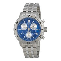 Tissot Men's T0674171104100 PRS 200 Blue Chronograph Watch