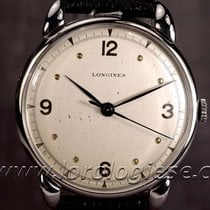 Longines Vintage 1949 37,4mm Center Seconds Claw Lugs Steel...