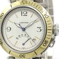 Cartier Polished Cartier Pasha 38 Power Reserve 18k Gold Steel...