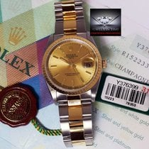 Rolex Date 18k Yellow Gold & Steel Mens Watch Box/Papers/T...