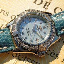Breitling Callistino A72345 Steel Perlmutt Blaues Zifferblatt...