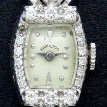 Hamilton Vintage Ladies Cocktail Dress Watch 14k White Gold