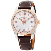 Longines Brown Leather Automatic Stainless Steel Case Mens...
