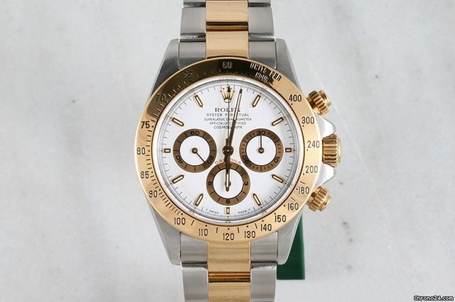 Rolex Two-Tone Gold and Stainless Steel White Dial Daytona