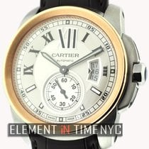 Cartier Calibre Collection Steel & Gold Silver Dial 42mm...