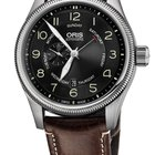 Oris Big Crown Small Second, Pointer Day, Brown Leather