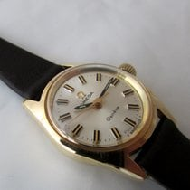 Omega 18ct golden vintage Geneve with box, serviced
